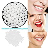Multi-functional Temporary Tooth Repair Kit Moldable Thermal Fitting Beads for Snap On Instant and Confident Smile Denture Adhesive Fake Teeth Cosmetic Braces Veneer