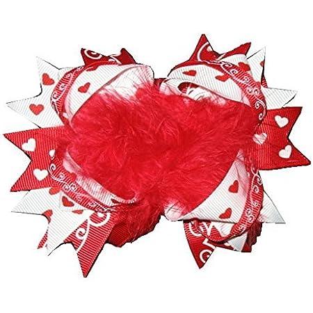 Valentine\u2019s Day hair bow alligator clip hair bow dinosaur hair bow