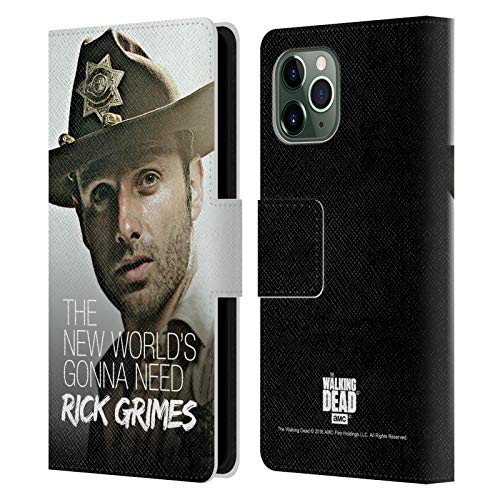 Head Case Designs Offizielle AMC The Walking Dead Hut Von Dem Stellvertreter Rick Grimes Erbschaft Leder Brieftaschen Handyhülle Hülle Huelle kompatibel mit Apple iPhone 11 Pro