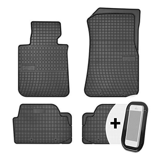 moto-MOLTICO Gummimatten Auto Fußmatten Gummi Automatten Passgenau 4-teilig Set - passend für BMW 1er E81 E87 E88 E82 X1 E84 F20 2004-2014