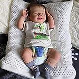 WNBXZ Reborn Babys Mädchen Reborn Puppe Weichkörper Weicher Körper Süßer Smiley Babypuppe Wie Echtes Baby Vollsilikon Pflegen Leicht Waschbar Jungen Und Mädchen Geschenk