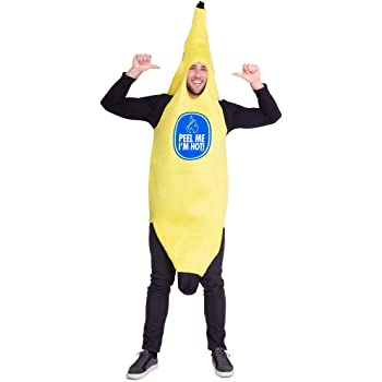 Foxxeo Divertido Disfraz de plátano para Adultos Disfraces de ...