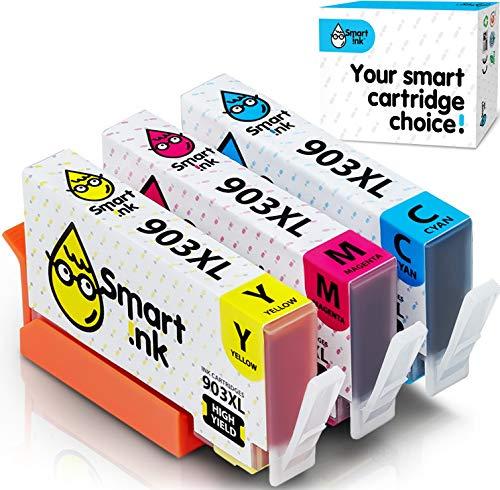 Smart Ink Cartucce Compatibili per HP 903 XL 903XL (C/M/Y XL 3 Combo Pack) con tecnologia chip avanzata per la ricarica delle OfficeJet 6950 6960 6970