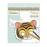 Avenue Mandarine 'Máscara de diseños de Animales graffy Pop para Colorear Pack (Black/White)