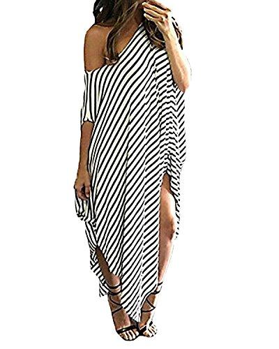 Kidsform Damska sukienka letnia z dekoltem w kształcie litery V, bez rękawów, długa sukienka maxi, sukienka plażowa