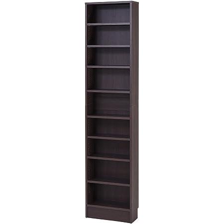 JKプラン MEMORIA オープン 本棚 文庫本 ラック 棚板 可動式 1cm 間隔 薄型 幅 41.5 ダークブラウン FRM-0100-DB