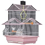 YHRJ Flight cage for Parakeets Decorative Bird Cages Home Decor,Parakeet Cage Cover,Luxury Home Parrot Cage, Medium Decorative Bird Cage, Parakeet Love Bird Pearl Bird, 8 Packages (Color : Pink E)