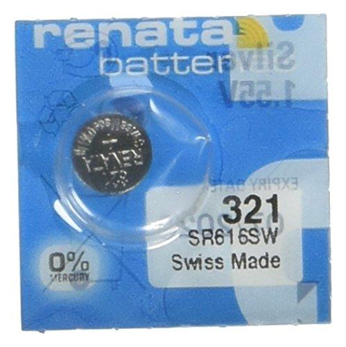 2 Pcs 321 Renata Silver Oxide 0% Mercury Electronic Batteries SR616SW