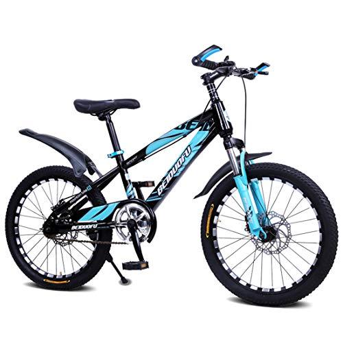 MXSXN Bicicleta De Montaña para Niños De Una Velocidad De 16'18' 20'22' con Frenos De Disco Doble Y Horquilla De Suspensión Delantera Asiento Ajustable para Niños Y Niñas De 5 A 17 Años,18'