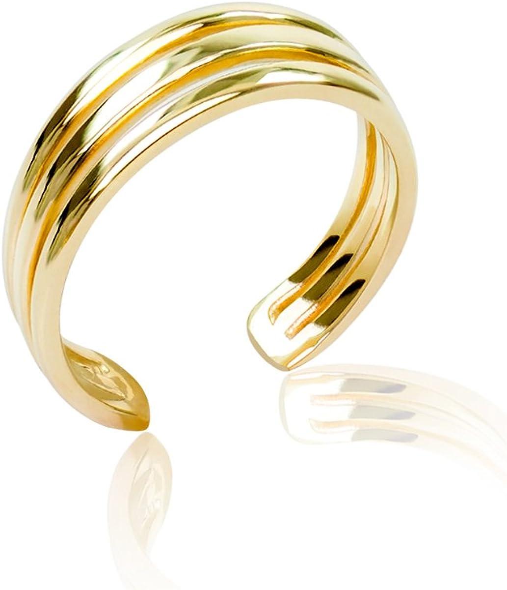 Honolulu Jewelry Company 14K Yellow Gold Three Row Band Toe Ring