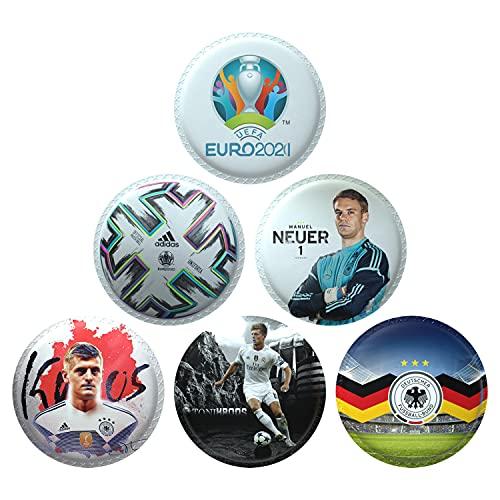 AISIR Pegatinas de Velco Set (6 piezas) Para Mochila para niños Mochilas Escolares -Serie de Fútbol de Alemania