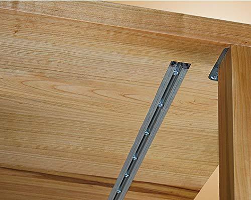 Gedotec Gratleiste für massive Tischplatten Ausricht-Beschlag mit Stahl-Einlage für Auszieh-Tische | Länge: 1850 mm | Aluminium - Metall silber eloxiert | 1 Set Möbelbeschläge für schwere Esstische