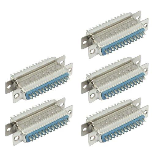 sourcing map 25 pin D-SUB DB25 weiblich auf männlich Lötversion Steckern (Paar 5 Stück) de