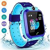 Kids Waterproof Smart Watch Phone, LBS/GPS Tracker Touchscreen Smartwatch Games SOS Alarm Clock...