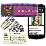 Smartphone-kompatibel Kinder Identität Notfall-Armband. Kind Sicherheit NotfallArmband Identität für: Allergie, Diabetes, medizinischen, SOS. Einfach zu aktualisieren. Wasserdicht. Strong. Waschbar. Kinder. Wahl von Farben. Sehr angenehm zu tragen. Ersatzkarten zur Verfügung. Multifunktionsband Identität Handgelenk. Die Nutzung mit mobilen Smartphone mit NFC RFID. (Violett mit blumen)