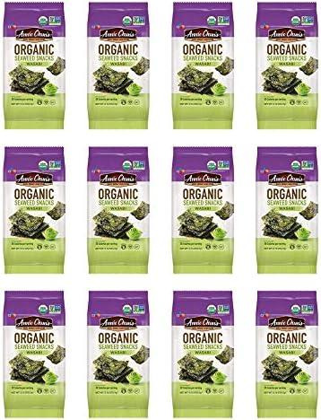 Annie Chun s Organic Seaweed Wasabi 0 16 oz 12 Count Keto Vegan Gluten Free Snack product image