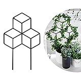 Seway Garden Metal Trellis, Lattice-Shaped Plant Trellis for DIY Potted Climbing Plants Support, Flower Vegetables Rose Vine Pea Ivy Cucumbers, Iron Metal