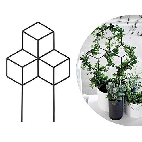 Seway Garden Metall Spalier Gitterform Pflanzengitter für DIY Topfpflanzen Kletterpflanzen Unterstützung Blume Gemüse Rose Rebe Erbsen Efeugurken Eisen Metall Free Szie Schwarz - 17.7