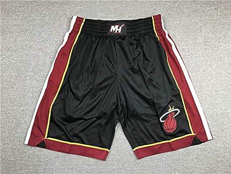 GAOZI Basketball Shorts Mens Miami Heat Mesh Retro Los Angeles Lakers Swingman Sports Shorts Running Basketball Shorts