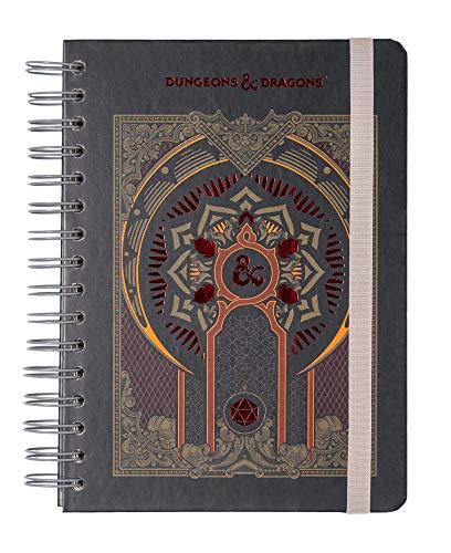 Grupo Erik Bullet Journal Dungeons & Dragons, quaderno A5 con copertina rigida e chiusura elastica, 180 pagine, carta d'avorio di alta qualitá, ideale come agenda 2020 2021