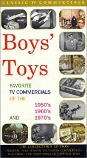 Boys' Toys : Favorite TV Commercials of the 1950's, 1960's and 1970's VHS