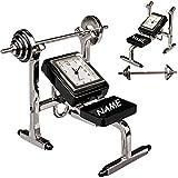 alles-meine.de GmbH kleine - Tischuhr / Miniatur - Uhr - Fitnessgerät / Hantelbank - Trainingsbank...