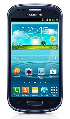 Samsung Galaxy S3 mini GT-I8200 Smartphone (10,2 cm (4 Zoll) Touchscreen, 5 Megapixel Kamera, 8GB Speicher, microSDHC-Kartenslot, Android 4.2) - Blau [EU-Version]