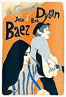 Joan Baez and Bob Dylan Concert Poster Print by delovely Arts