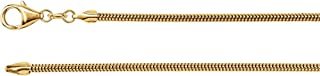 Jewels By Lux 14K Yellow Gold 2mm Solid Round Snake Chain