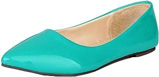 LOVOUO Escarpin Ballerines Vernis Femme Plates Pointues Enfilé Chaussures Confortable