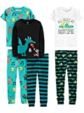 Simple Joys by Carter's Boys' Toddler 6-Piece Snug Fit Cotton Pajama Set, Dragons/Igauana, 3T
