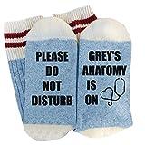 Womens Funny Socks Please Do Not Disturb Grey's Anatomy is on Novelty Crew Casual Socks