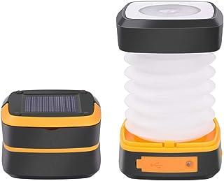 LEDワークライトランタン (2個入り)LED ソーラーライトUSB充電式 懐中電灯 USB充電式 折り畳み式 モバイルバッテリー機能 軽量 登山 夜釣り ハイキング アウトドア キャンプ用 防災対策
