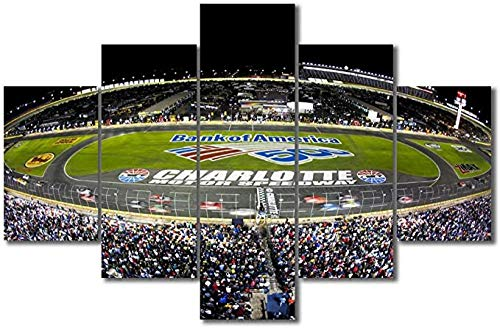 Wall Decorations Wall Art For Living Room Charlotte Speedway Artwork Print Track Of Nascar Race F1 Yankees Modern Canvas Art Pictures For Bedroom Living Room Bathroom Wall Paintings For Living Room