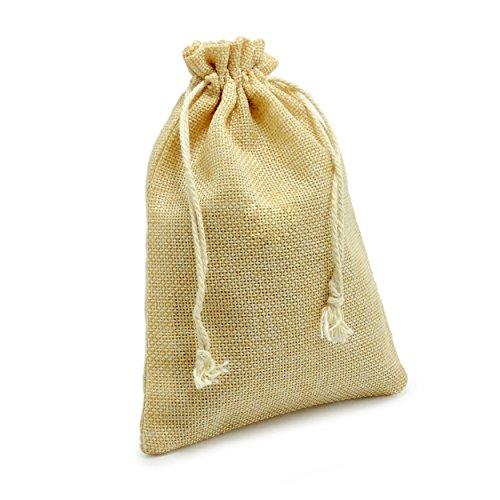Ganzoo 24er Set Jutesäckchen für Adventskalender zum selbst befüllen, 17,5cm x 12,5cm, Jutebeutel, Stoffbeutel, Natur Säckchen, Geschenksäckchen, Sack, Beutel – Marke (Hellbraun)