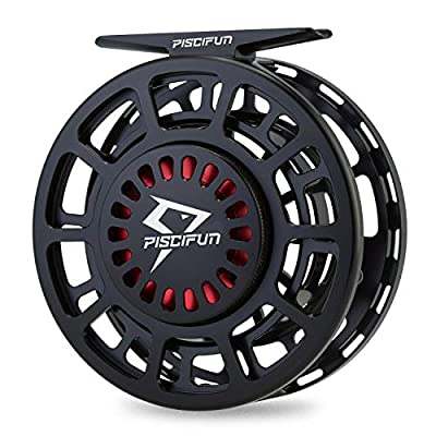 Piscifun Platte Fully Sealed Drag Large Arbor Fly Fishing Reel with CNC-machined Aluminum Alloy Body 3/4, 5/6, 7/8, 9/10 (Gunmetal,Black,Ice Blue)