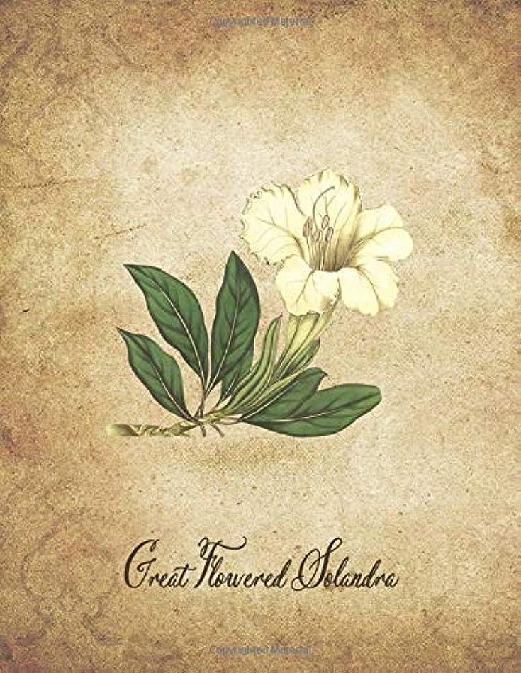 ヘリコプター郵便番号ほとんどないGreat Flowered Solandra: Vintage Floral Notebook With College Ruled Lined Pages for Writing and Journaling (Beautiful Flowers & Fruits Note Books)
