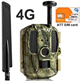 Kuool Trail Camera 4G LTE Cellular (AT&T SIM Card Included/T-Mobile) & GPS Hunting Camera,D40 Game Camera,Wildlife Camera 12MP 1080P Full HD Trail cam, 52 Pcs IR LED Waterproof Infrared Game Cam