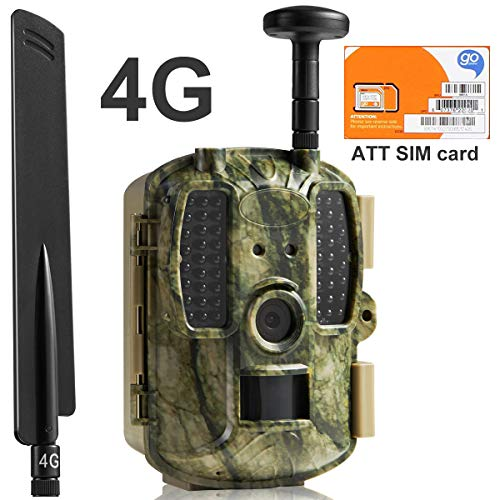 Kuool Trail Camera 4G LTE Cellular (AT&T SIM Card...