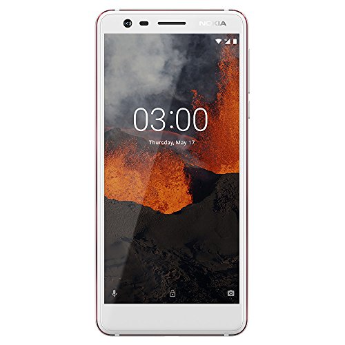 Nokia 3.1 - Android 9.0 Pie - 16 GB - Dual SIM Unlocked Smartphone (AT&T/T-Mobile/MetroPCS/Cricket/Mint) - 5.2' Screen - White - U.S. Warranty