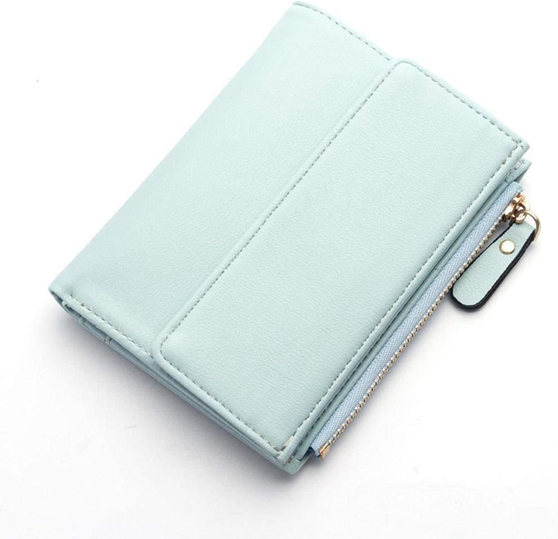 Girls Purse Women's Wallet Lady Purse Buckle Simple MultiCard Wallet Multifunction Card Bag (color   B)