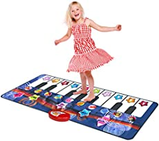 Kidzlane Durable Piano Dance Mat | Giant Floor Piano Mat for Kids and Toddlers | Step on Piano Keyboard | Electronic Music Gift Toy for Girls and Boys