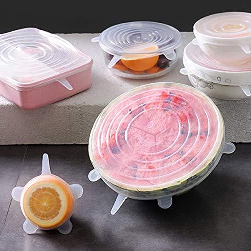 Appareils de Cuisine LGMIN 6 PCS/Set de qualité Alimentaire en Silicone d'étanchéité Couvercles Frais Couvertures Keeping Nouveau Produit