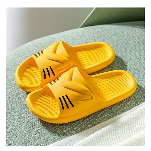 Hong Yi Fei-Shop Pantuflas Zapatillas de Verano Femenino Lindo casa Interior de Moda casero Chicas baño baño baño Sandalias Zapatillas de Playa Sandalias (Color : A, Size : 40-41)