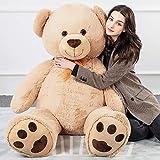 Tezituor Giant Teddy Bear Soft Hug Cute Stuffed Animal Big Plush Gift for Girlfriend Kids, 5 Feet...