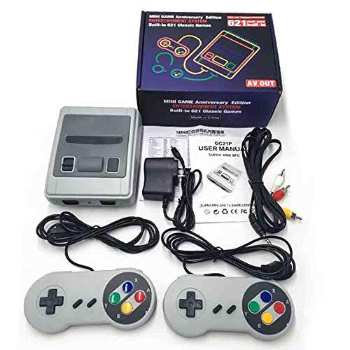 Mini clásico Juego de Consola con Usted Feliz Recuerdos de la Infancia Incorporado 621 Juegos y 2 NES Classic AV Controladores de Salida de 8 bits y Llevar