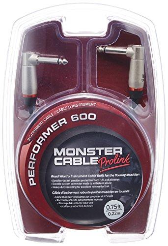 Monster Cable P600-I-0.75DA Jack Coude auf Jack Coude Instrumentenkabel (20,3 cm)