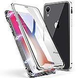 Custodia per iPhone XR, ZHIKE Caso Adsorbimento Magnetico Anteriore e Posteriore in Vetro ...