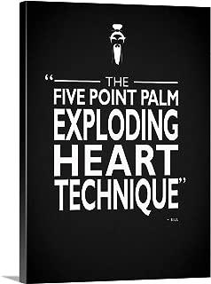 GREATBIGCANVAS Gallery-Wrapped Canvas Kill Bill - Exploding Heart by Mark Rogan 30