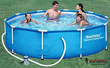 Piscina redonda con marco 366 x 76 H Bestway Art. 56062 con bomba de piscina futurera